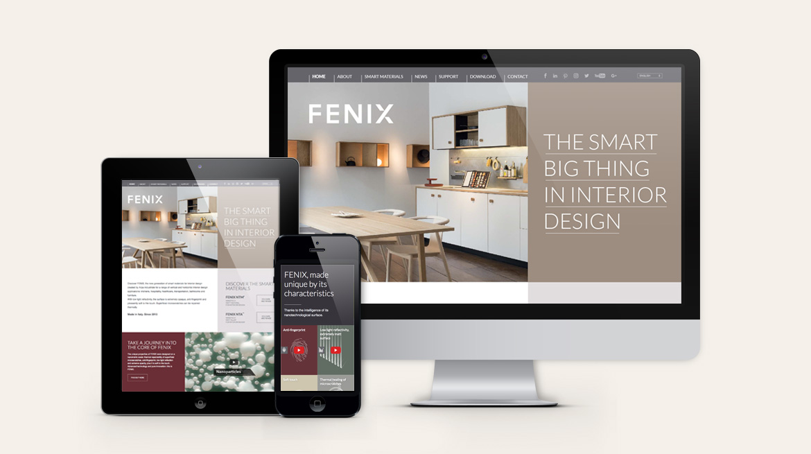 FENIX for interiors website