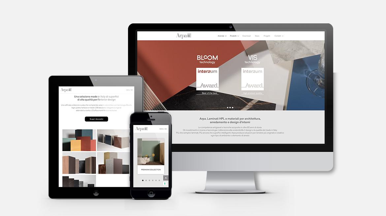 Arpa Industriale - Visualizzazione sito su desktop e smartphone