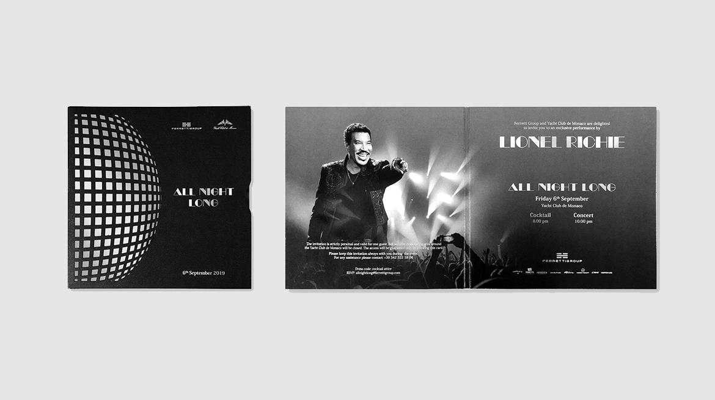Ferretti Group Private Preview - Invito Lionel Richie